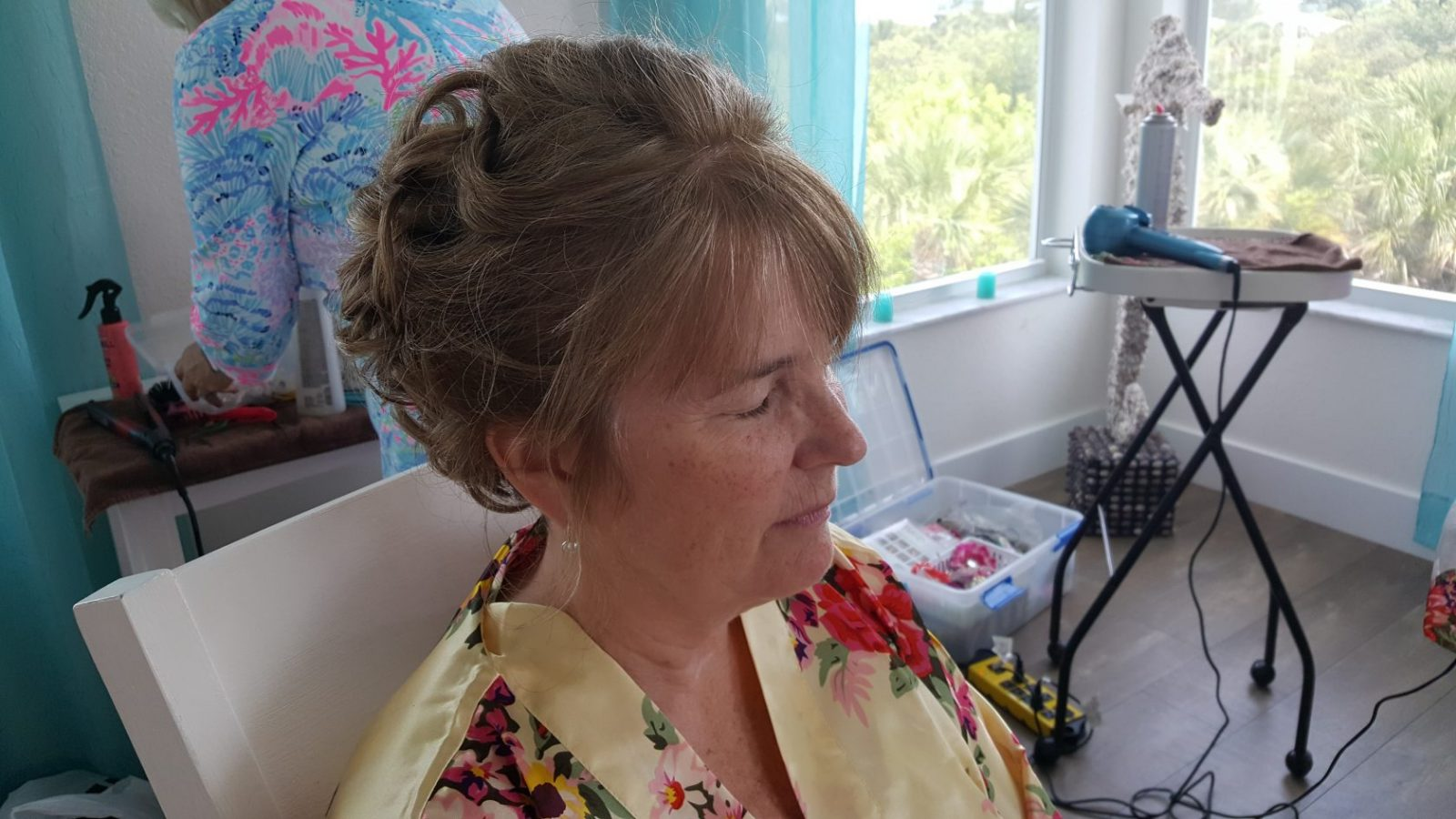 Shear Sailing Hair Salon Bridal Party Pre-Wedding Hair Services Up Do