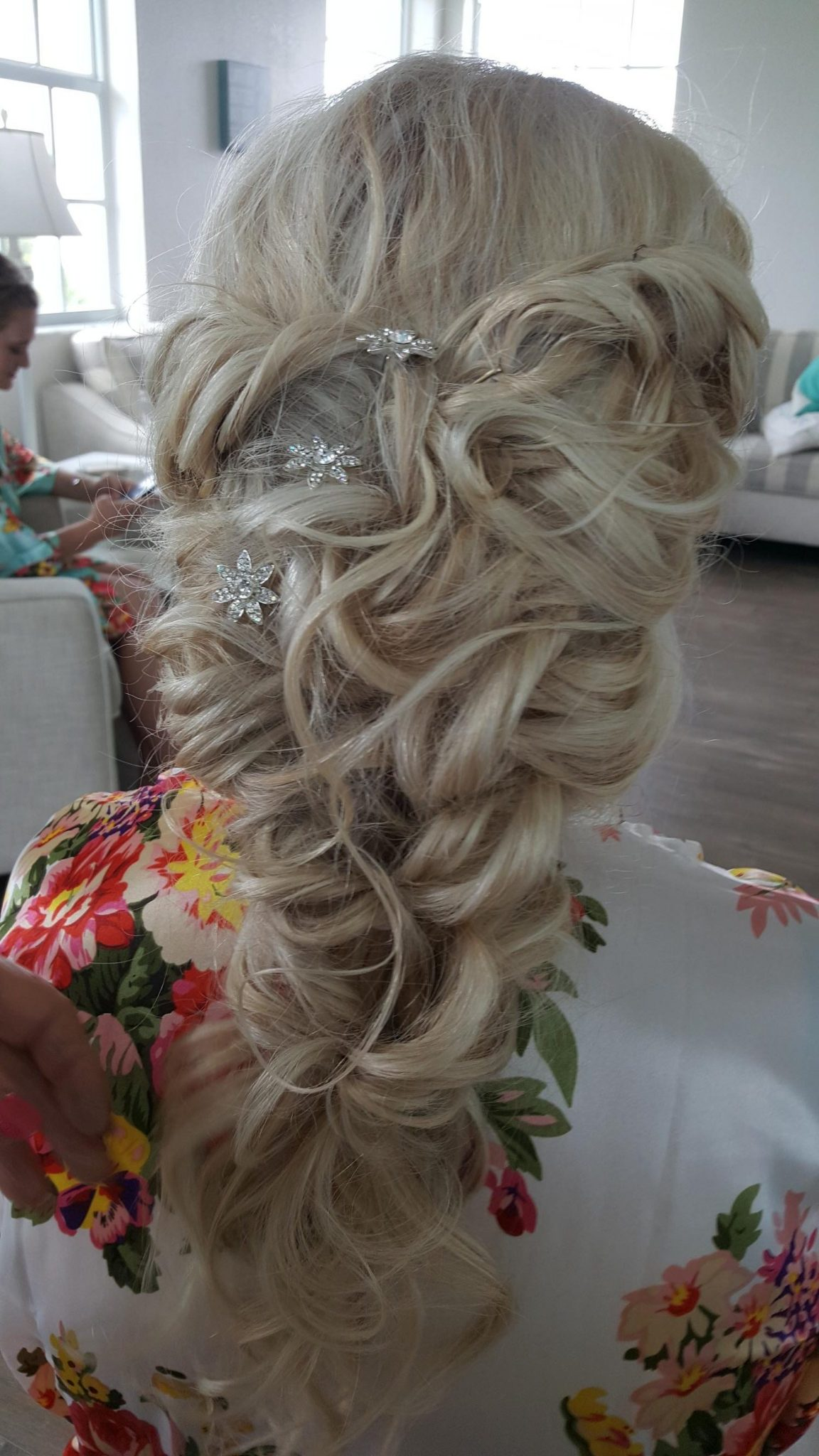 Shear Sailing June Wedding Hair Styling and Airbrush Makeup Brides Braid