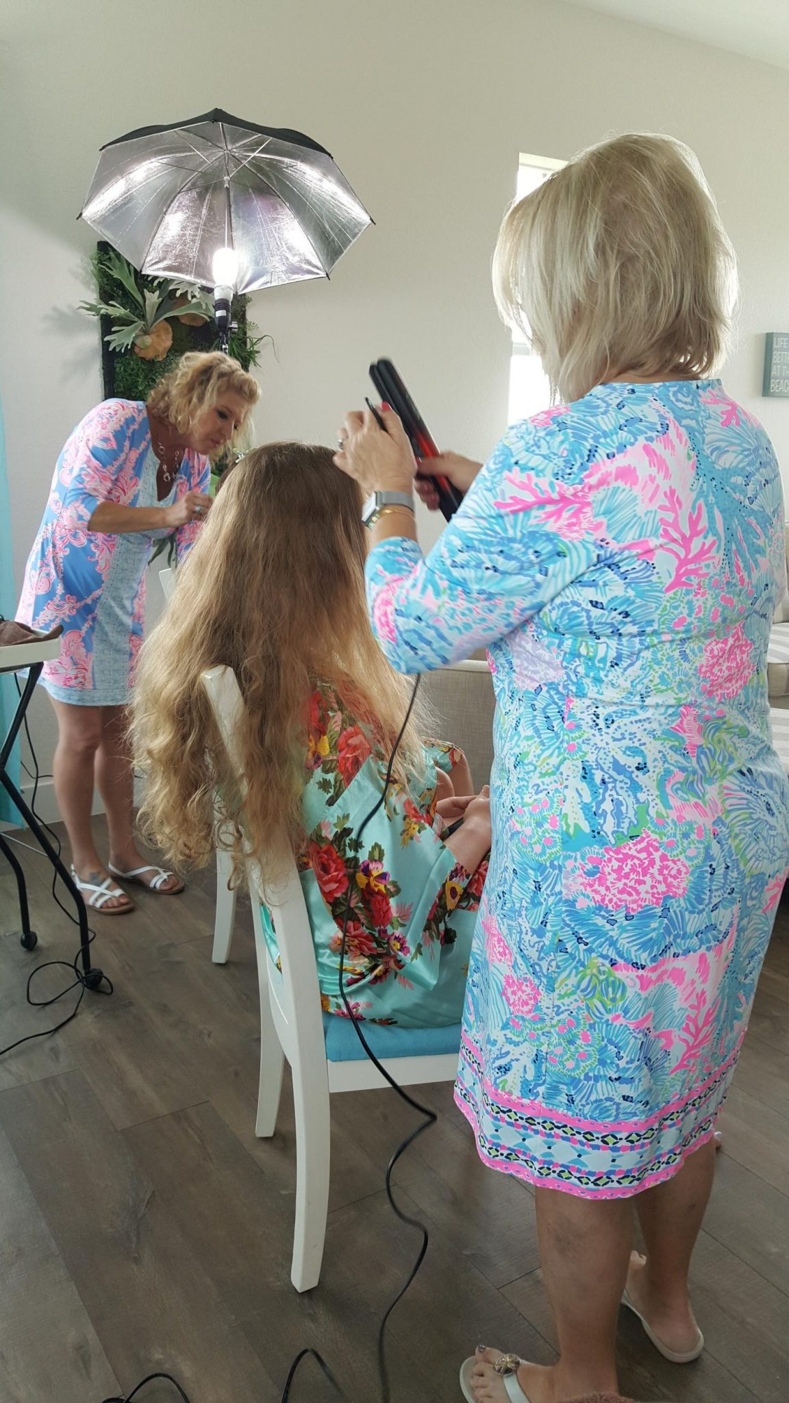 Shear Sailing June Wedding Hair Styling and Airbrush makeup and Hair Styling